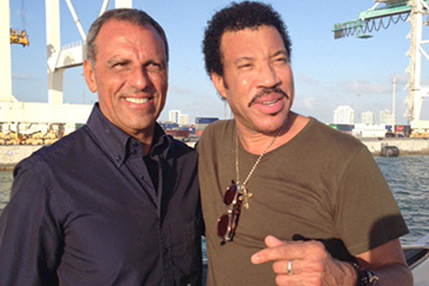 Eduardo Montefusco with Lionel Richie