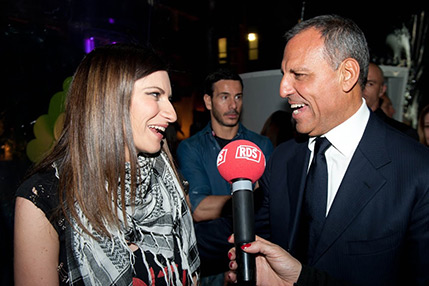 Eduardo Montefusco with Laura Pausini