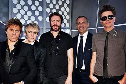 Eduardo Montefusco con i Duran Duran
