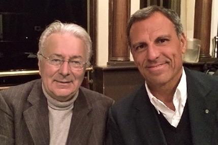 Eduardo Montefusco con Federico Faggin, inventore del microprocessore