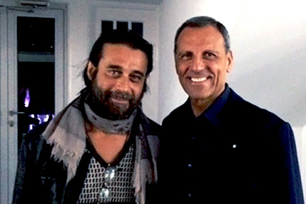 Eduardo Montefusco with Jordi Molla