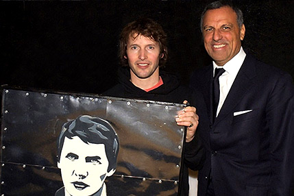 Eduardo Montefusco with James Blunt