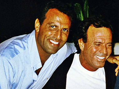 Eduardo Montefusco with Julio Iglesias