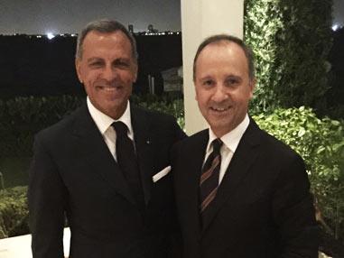 Eduardo Montefusco con l'Ambasciatore Italiano in USA Armando Varricchio