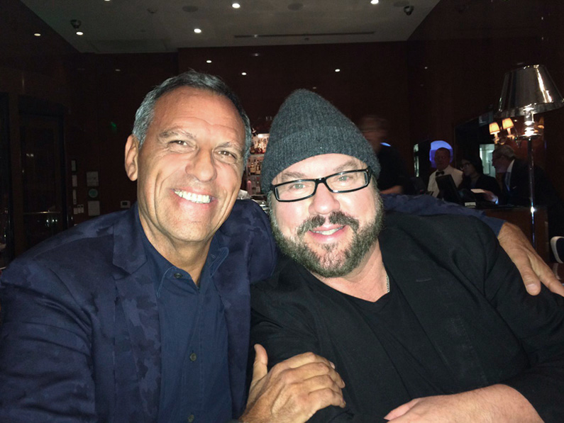 Eduardo Montefusco con Desmond Child