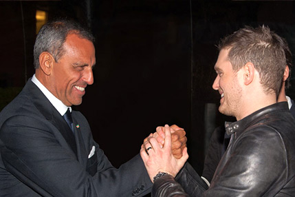 Eduardo Montefusco with Michael Bublè