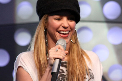 Shakira live nell'auditorium di RDS