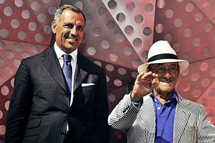 Eduardo Montefusco with Lucio Dalla