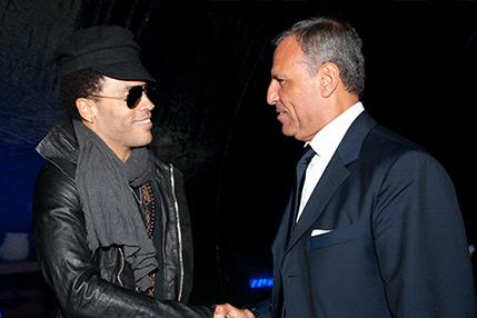 Eduardo Montefusco con Lenny Kravitz