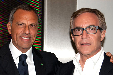 Eduardo Montefusco with Dr. Camillo Ricordi, M.D.