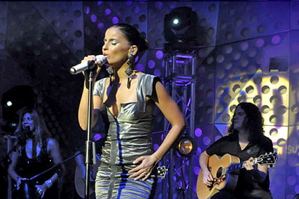 Nelly Furtado live nell'auditorium di RDS