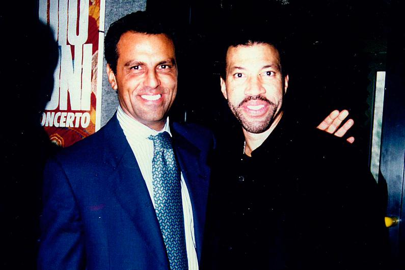 Eduardo Montefusco con Lionel Richie