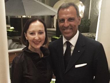 Eduardo Montefusco con il Console Generale Italiano in USA Gloria Marina Bellelli