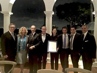 E. Montefusco with C. Ricordi, M. Sachs, P. Levine, U. Colombo and R. Silva