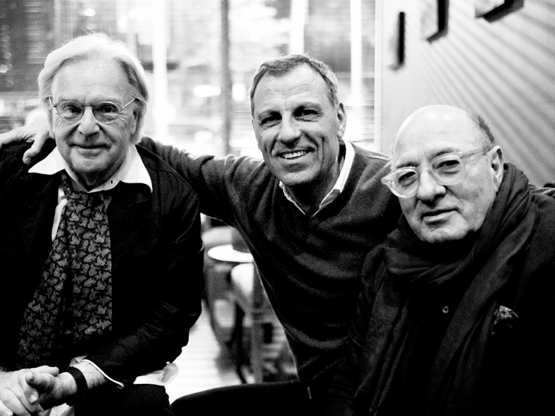 Eduardo Montefusco con Dante Ferretti e Diego Della Valle