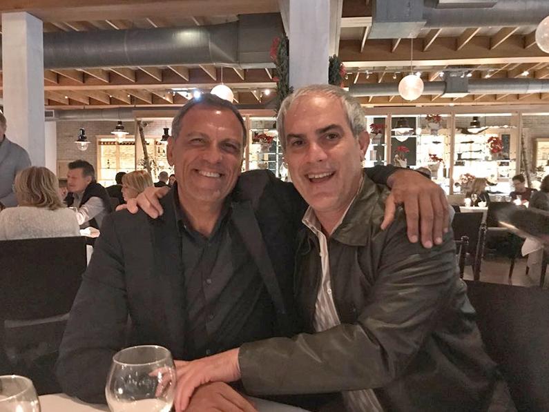 Eduardo Montefusco con Bill Bakula